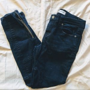 Madewell Ankle Zip Moto Jeans